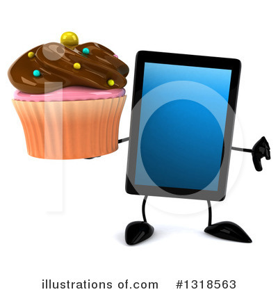 Royalty-Free (RF) Tablet Computer Character Clipart Illustration by Julos - Stock Sample #1318563