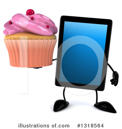 Tablet Computer Character Clipart #1318564 by Julos
