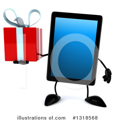 Royalty-Free (RF) Tablet Computer Character Clipart Illustration by Julos - Stock Sample #1318568