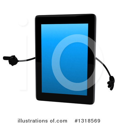 Tablet Computer Character Clipart #1318569 by Julos