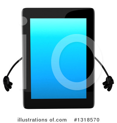 Tablet Computer Character Clipart #1318570 by Julos