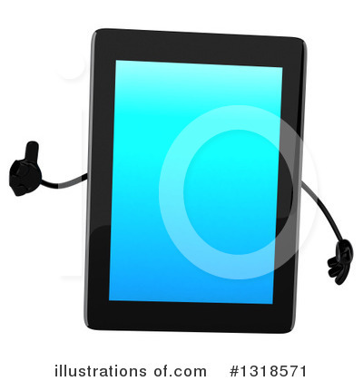 Tablet Computer Character Clipart #1318571 by Julos
