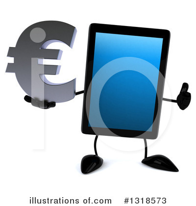 Tablet Computer Character Clipart #1318573 by Julos