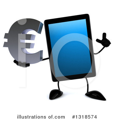 Tablet Computer Character Clipart #1318574 by Julos