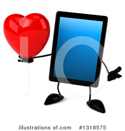 Tablet Computer Character Clipart #1318575 by Julos