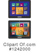 Tablet Computer Clipart #1242000 by Vector Tradition SM