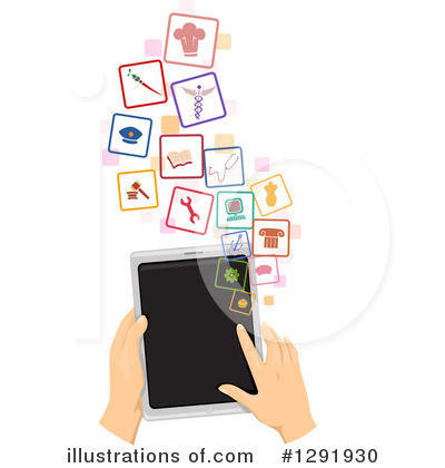 Tablets Clipart #1291930 by BNP Design Studio