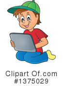 Royalty-Free (RF) Tablet Computer Clipart Illustration #1375029
