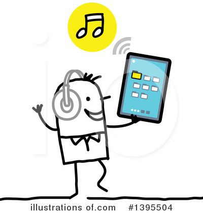 Tablet Computer Clipart #1395504 by NL shop