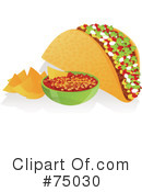 Royalty-Free (RF) Taco Clipart Illustration #75030