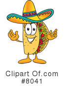 Royalty-Free (RF) Taco Clipart Illustration #8041