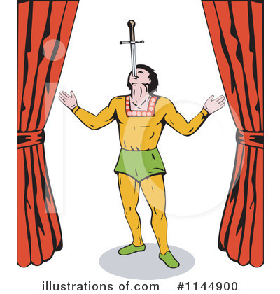 Circus Act Clipart #1144900 by patrimonio