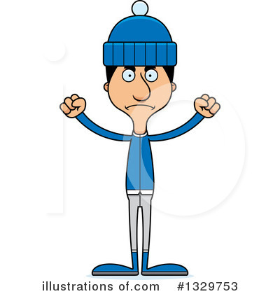 Tall Hispanic Man Clipart #1329753 by Cory Thoman