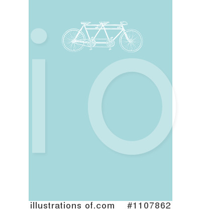 Royalty-Free (RF) Tandem Bicycle Clipart Illustration by BestVector - Stock Sample #1107862