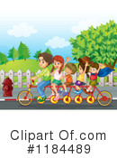 Tandem Bicycle Clipart #1184489 by Graphics RF
