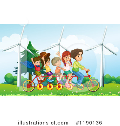 Tandem Bike Clipart #1190136 by Graphics RF