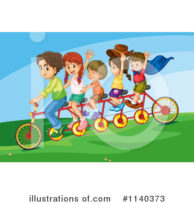 Tandem Bicycle Clipart #1140373 by Graphics RF