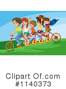 Tandem Bike Clipart #1140373 by Graphics RF