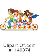 Royalty-Free (RF) Tandem Bike Clipart Illustration #1140374