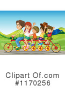 Tandem Bike Clipart #1170256 by Graphics RF