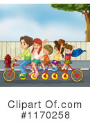 Tandem Bike Clipart #1170258 by Graphics RF