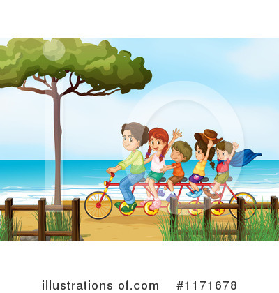 Tandem Bike Clipart #1171678 by Graphics RF