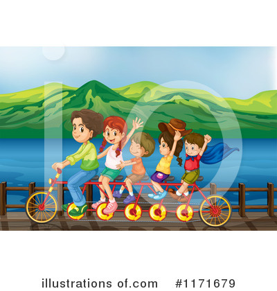 Tandem Bike Clipart #1171679 by Graphics RF