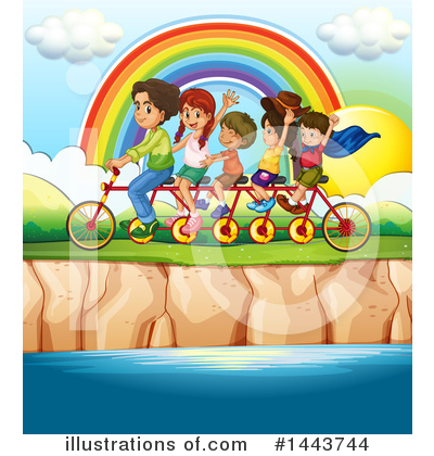 Tandem Bicycle Clipart #1443744 by Graphics RF
