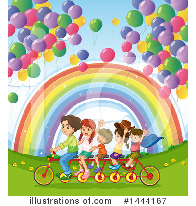 Tandem Bicycle Clipart #1444167 by Graphics RF