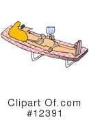 Royalty-Free (RF) Tanning Clipart Illustration #12391