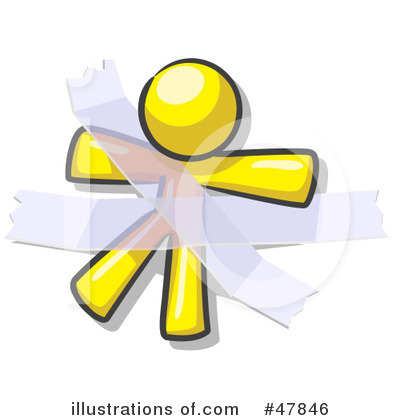 Yellow Design Mascot Clipart #47846 by Leo Blanchette