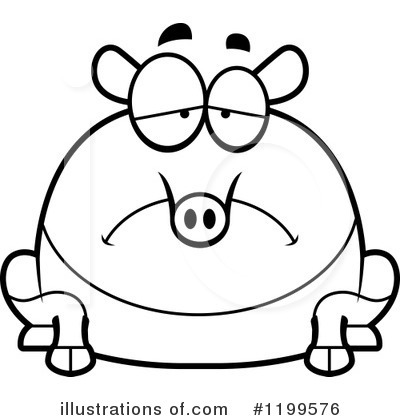 Tapir clipart 1199576 illustration by cory thoman for Tapir coloring page