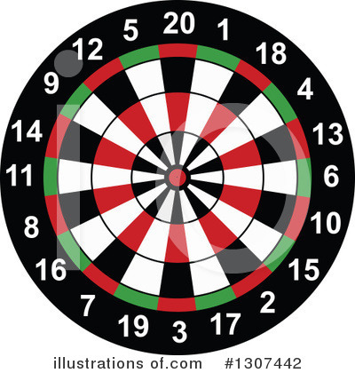 Darts Clipart #1307442 by Vector Tradition SM