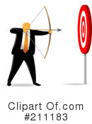 Royalty-Free (RF) Target Clipart Illustration #211183