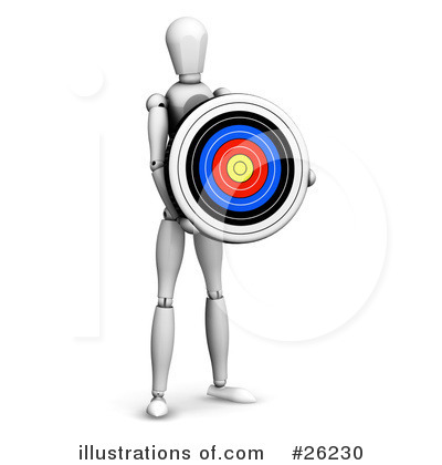 Royalty-Free (RF) Target Clipart Illustration by KJ Pargeter - Stock Sample #26230