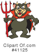 Royalty-Free (RF) tasmanian devil Clipart Illustration #41125