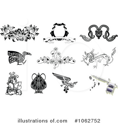 Royalty-Free (RF) Tattoo Clipart Illustration by AtStockIllustration - Stock Sample #1062752
