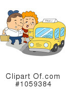 Royalty-Free (RF) Taxi Clipart Illustration #1059384