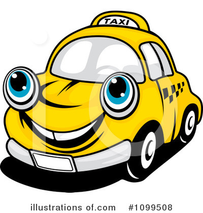 Taxi Clipart #1099508 by Vector Tradition SM