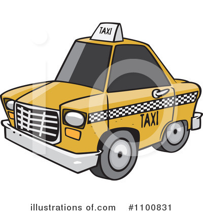 Taxi Clipart #1100831 by toonaday
