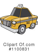 Royalty-Free (RF) Taxi Clipart Illustration #1100831