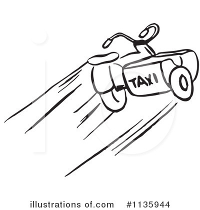 Royalty-Free (RF) Taxi Clipart Illustration by Picsburg - Stock Sample #1135944