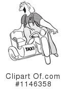 Royalty-Free (RF) Taxi Clipart Illustration #1146358