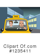 Taxi Clipart #1235411 by David Rey