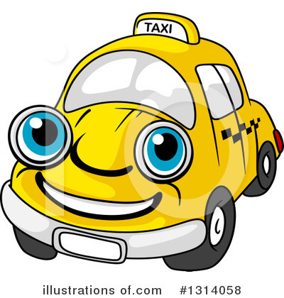 Taxi Clipart #1314058 by Vector Tradition SM