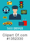 Royalty-Free (RF) Taxi Clipart Illustration #1352330