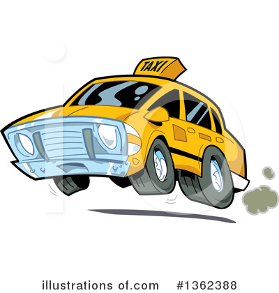 Taxi Clipart #1362388 by Clip Art Mascots