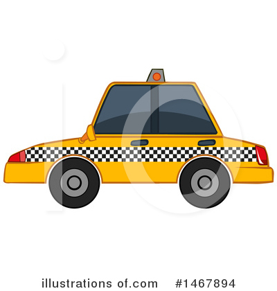 Taxi Clipart #1467894 by Graphics RF