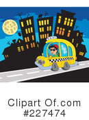 Royalty-Free (RF) Taxi Clipart Illustration #227474