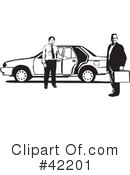 Royalty-Free (RF) Taxi Clipart Illustration #42201